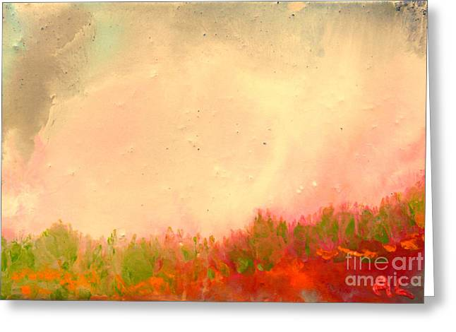 Grass Fire Greeting Card