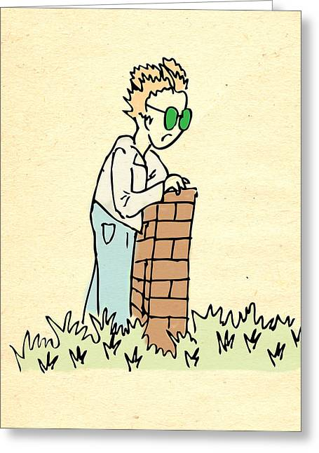 Grass Is Greener On The Other Side Greeting Card by