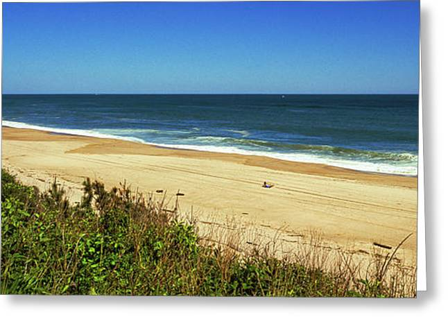 Grass On The Beach, Montauk Point Greeting Card by Panoramic Images