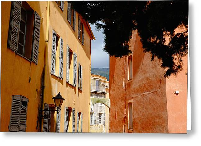 Grasse Alley France Greeting Card