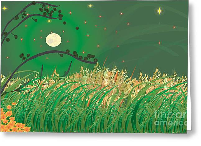 Grasses In The Wind Greeting Card