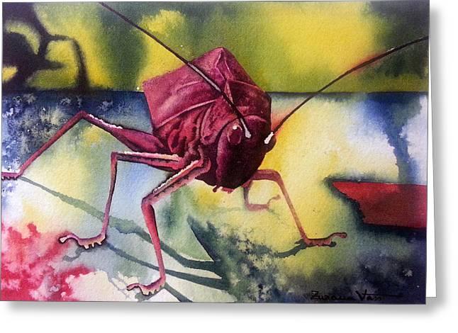 Grasshoper Greeting Card
