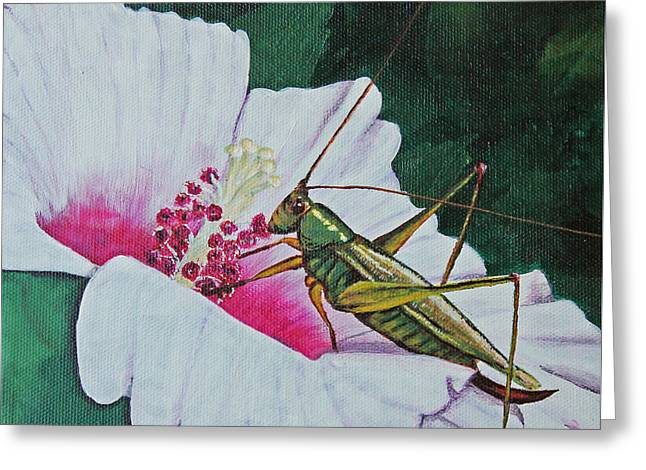 Grasshopper Greeting Card by Patricia Pasbrig
