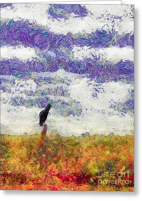Grassland Sentry Greeting Card