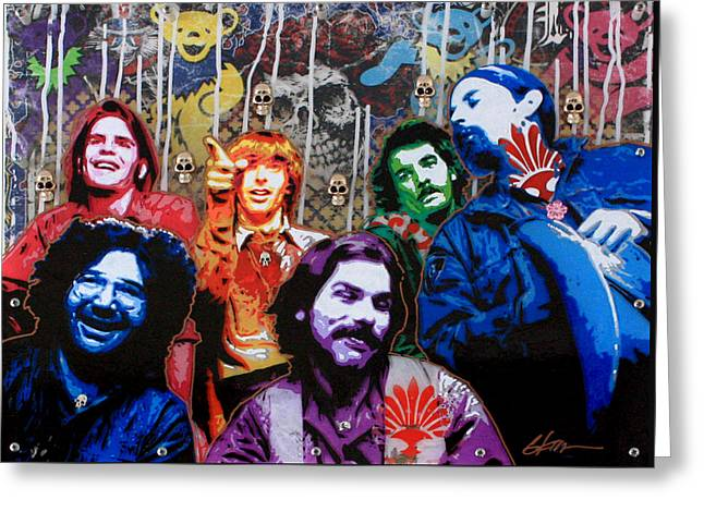 Grateful Dead  Greeting Card by Gary Kroman
