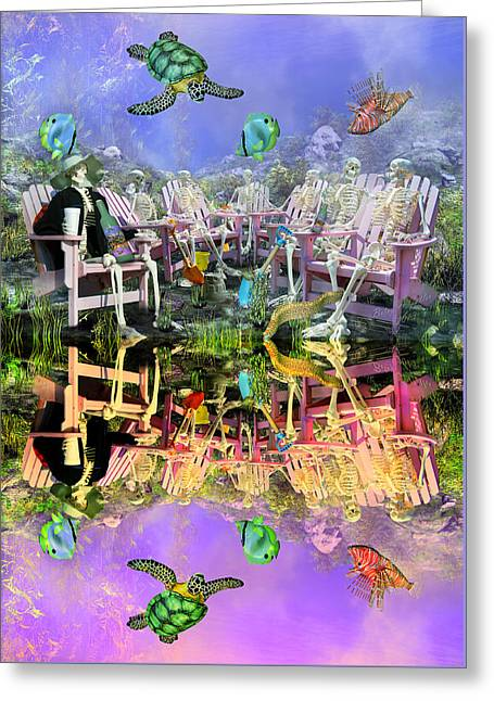 Grateful Get Together Greeting Card by Betsy Knapp