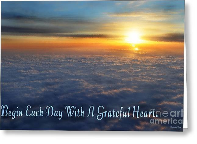 Grateful Heart Greeting Card by Belinda Rose