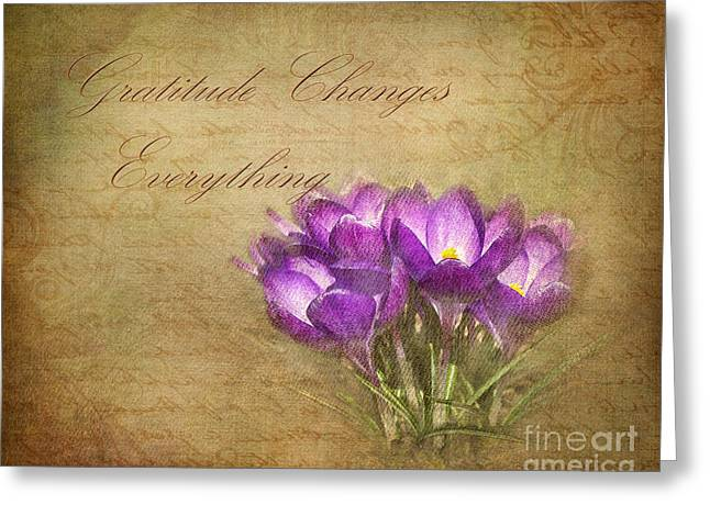 Gratitude Changes Everything Greeting Card