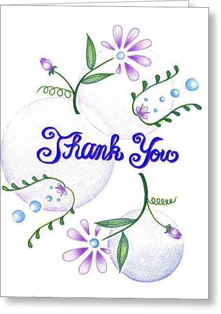 Gratitude Greeting Card by Keiko Katsuta