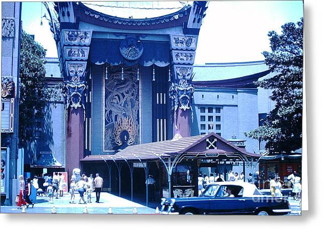 Grauman's Chinese Theater -1964 Greeting Card by Bobby  Cole