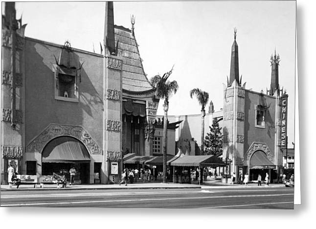 Grauman's Chinese Theater Greeting Card by Underwood Archives