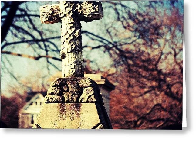 Grave With Cross Greeting Card