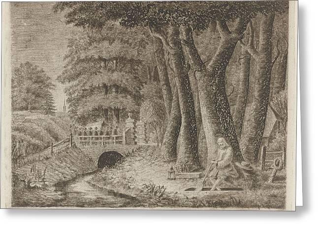 Gravedigger, Eberhard Cornelis Rahms, Tollens Greeting Card