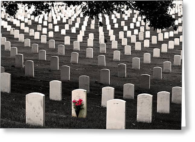 Graves At Arlington National Cemetery Greeting Card