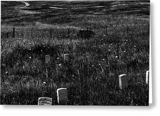 Gravestones On Last Stand Hill Greeting Card by Panoramic Images
