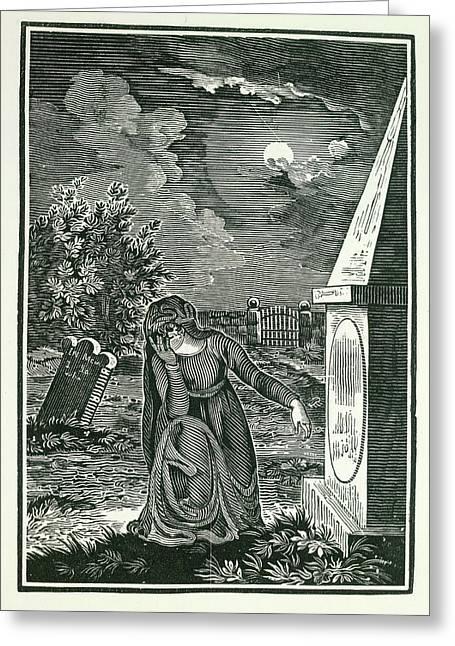 Graveyard Greeting Card by British Library