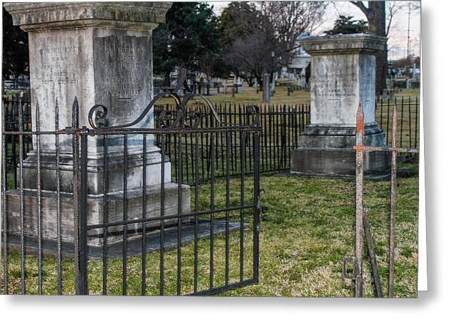 Graveyard In Graveyard Greeting Card by Robert Hebert