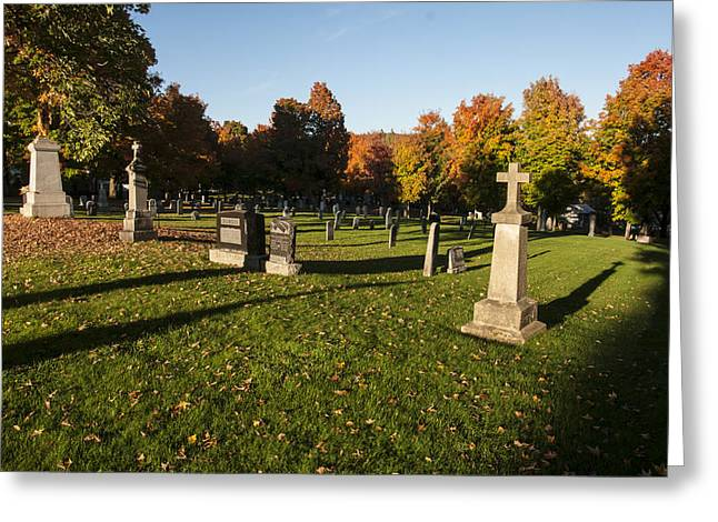 Graveyard Greeting Card by Philippe Boite