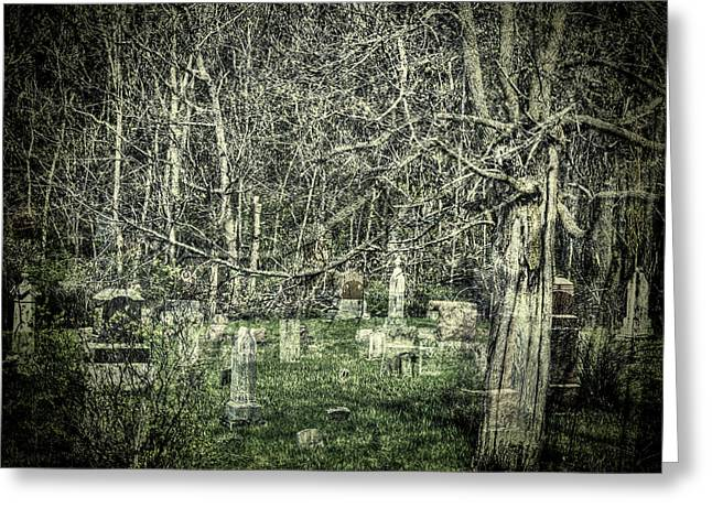 Graveyard With A Past Greeting Card by Thomas Young