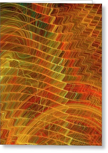Gravitational Waves Artwork Greeting Card