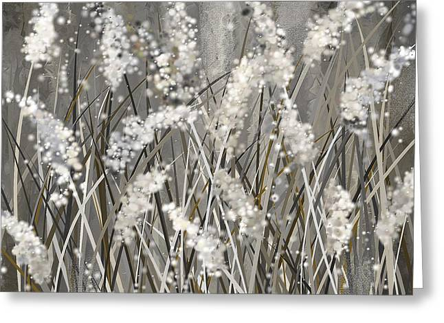 Gray Blossoms- Shades Of Gray Art Greeting Card by Lourry Legarde