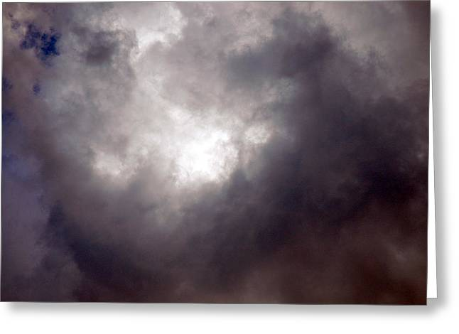 Gray Cloud Greeting Card by Allen Carroll