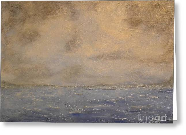 Gray Dawn Greeting Card by Lori Jacobus-Crawford