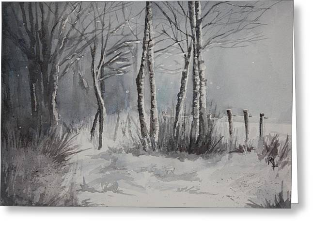 Gray Forest Greeting Card