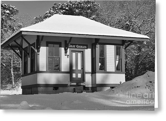 Gray Gables Train Station Greeting Card by Catherine Reusch  Daley