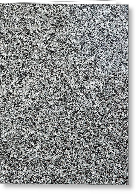 Gray Granite Greeting Card by Alexander Senin