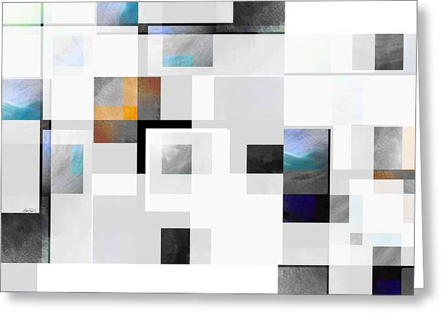 Gray Series Ten - Abstract - Art Greeting Card by Ann Powell