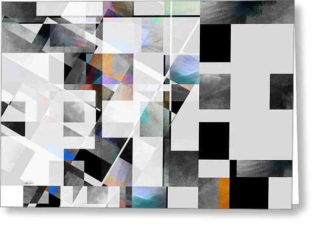 Gray Series Twelve - Abstract Art Greeting Card by Ann Powell
