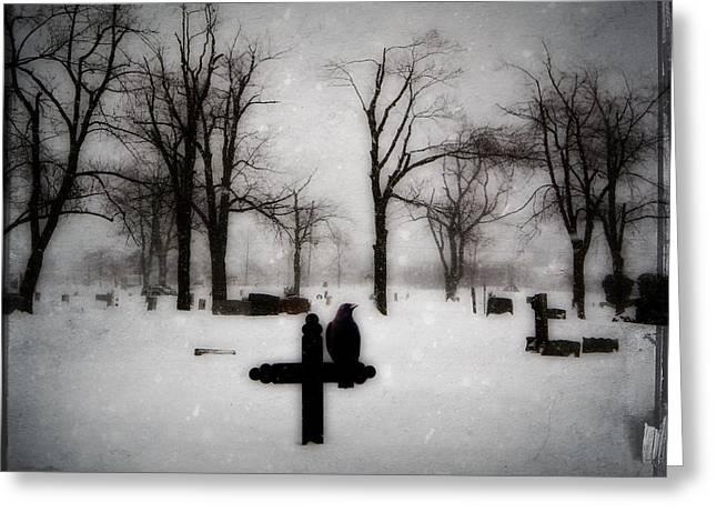 Gray Winter Greeting Card