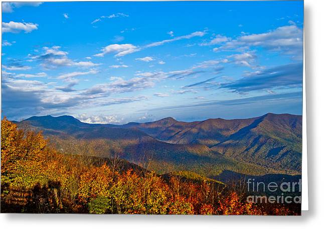 Greeting Card featuring the photograph Graybeards Mountain by Debra Crank