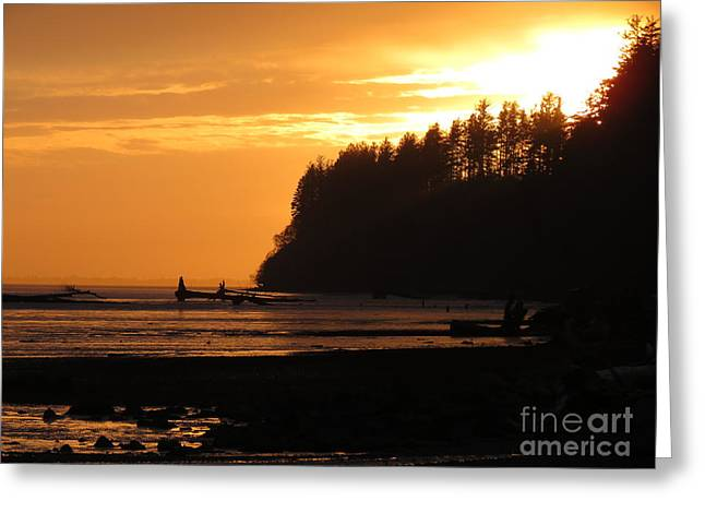Grays Harbor Sunset I Greeting Card