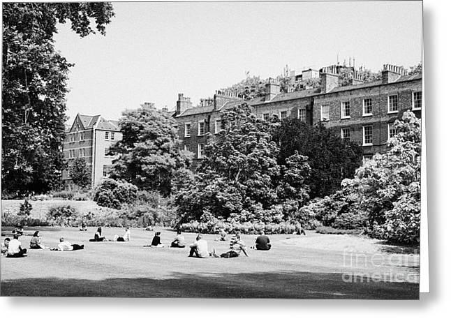 grays inn field and gardens London England UK Greeting Card by Joe Fox