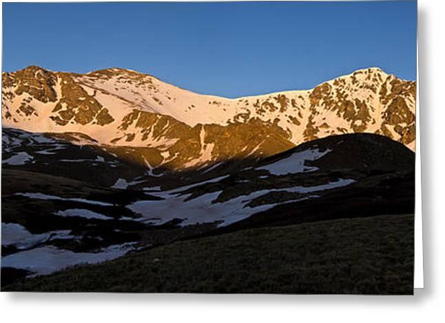 Grays Peak And Torreys Peak Panorama Greeting Card by Benjamin Reed