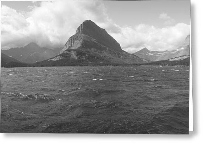 Grayscale Of Lake Sherbourne, Many Greeting Card