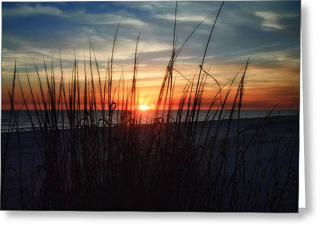 Grayton Beach Sunset 3 Greeting Card