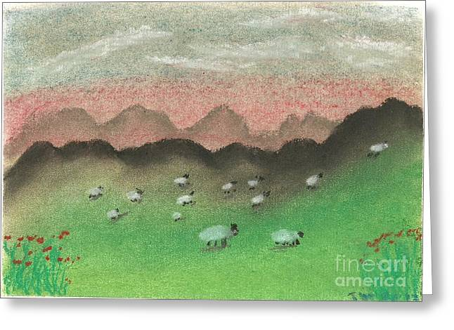 Grazing In The Hills Greeting Card