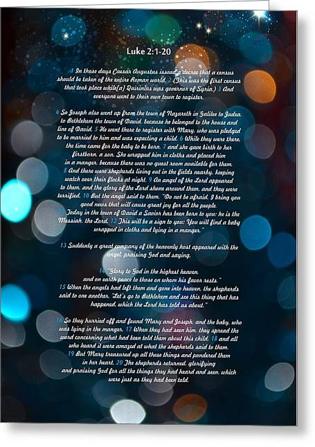 Great Bible Verses For Christmas Greeting Card