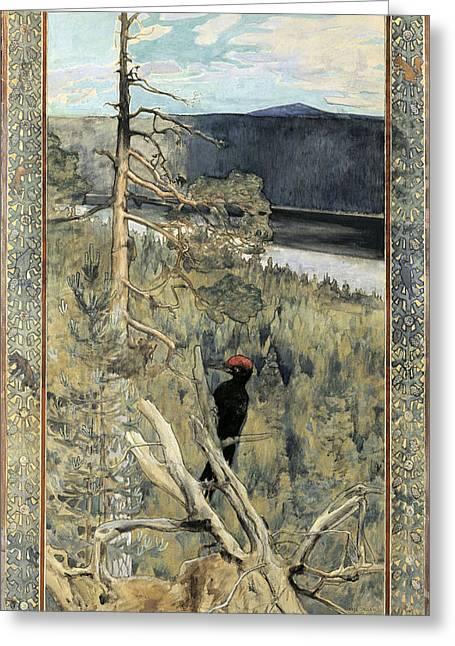 Great Black Woodpecker Greeting Card