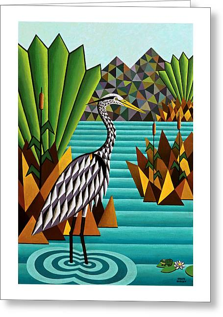 Great Blue Heron Greeting Card by Bruce Bodden