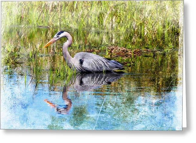 Great Blue Hunter Greeting Card