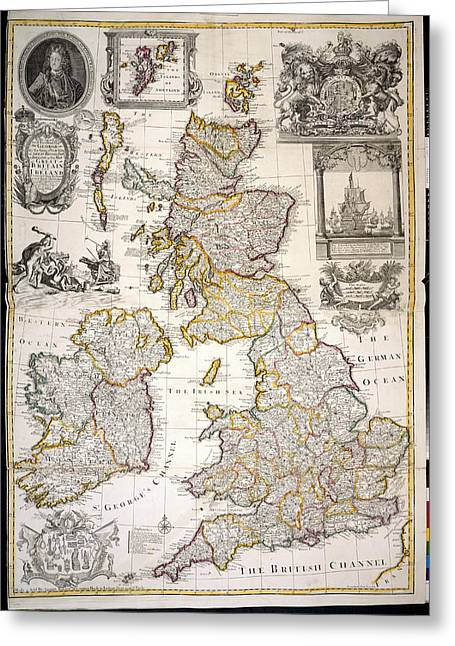 Great Britain And Ireland Greeting Card