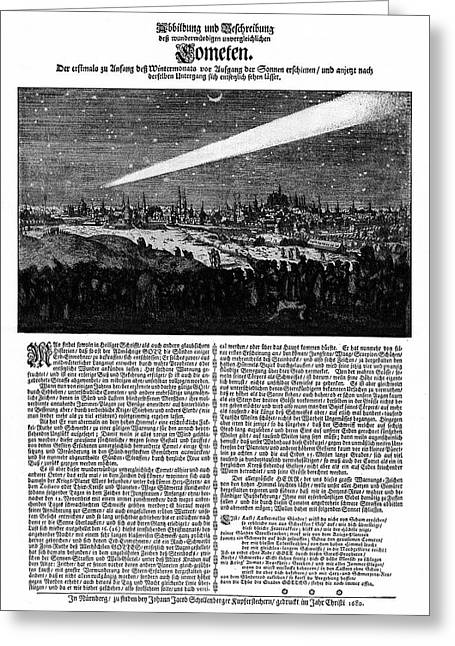 Great Comet Of 1680 Greeting Card by Cci Archives