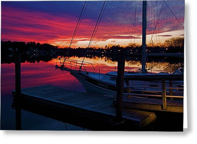 Great Egg Harbor River Sunset Greeting Card