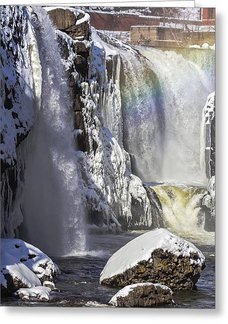 Great Falls And A Rainbow Greeting Card