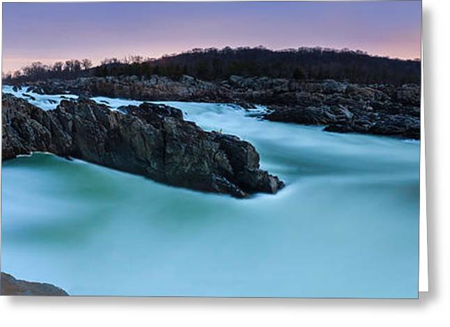Great Falls By Full Moon Greeting Card by Andrew Fritz