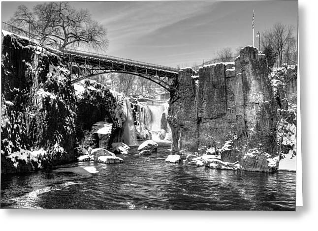 Great Falls In The Winter Greeting Card